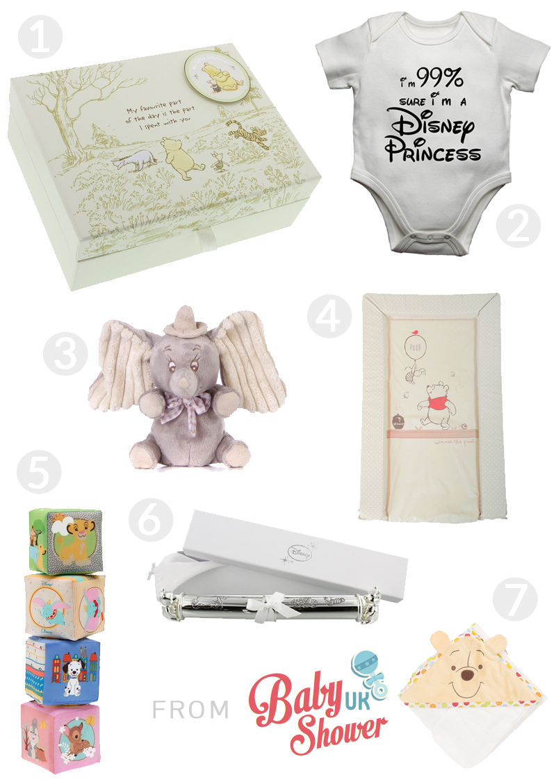Baby shower gift ideas for disney fans baby shower uk disney baby shower gift guide negle Gallery