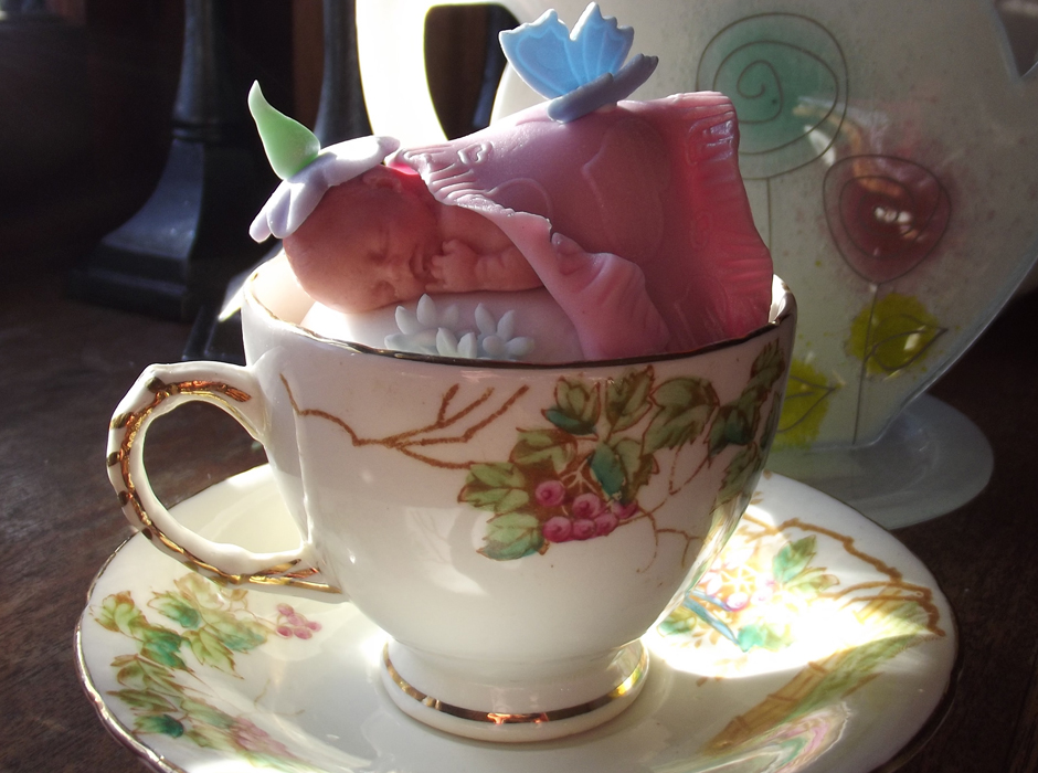 Cups Tea Room Baby Shower Baby Cupcake