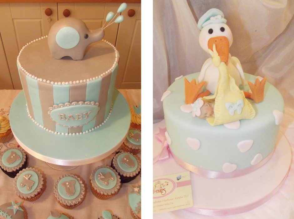 Cups Tea Room Baby Shower Cakes