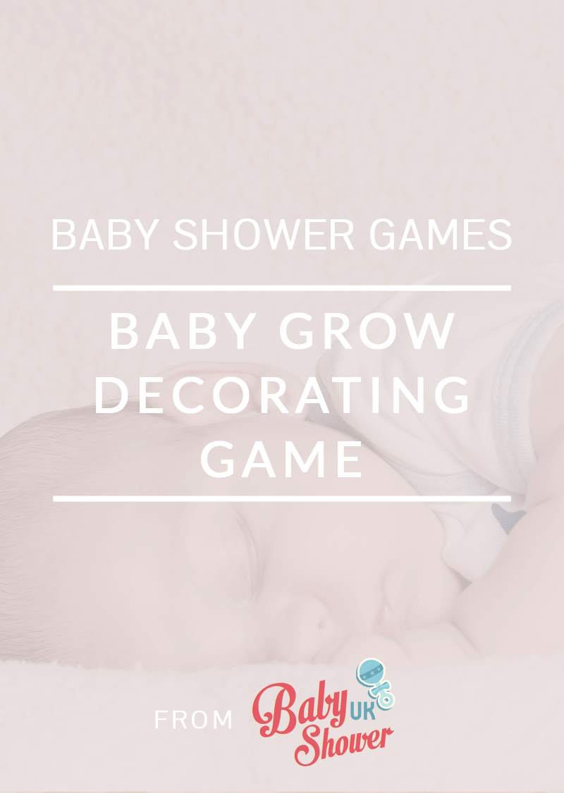 Baby Grow Decorating Baby Shower Game